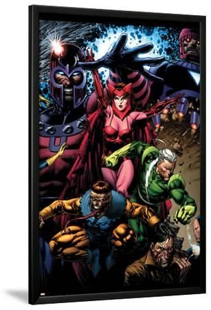 X-Men: Legacy No.209 Cover: Toad, Quicksilver, Scarlet Witch and Magneto