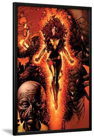 X-Men: Legacy No.211 Cover: Dark Phoenix, Brood, Nova and Cassandra
