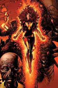 X-Men: Legacy No.211 Cover: Dark Phoenix, Brood, Nova and Cassandra by David Finch