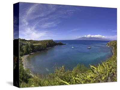 Sailboats and Snorkelers in Honolua Bay, Maui