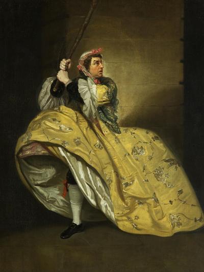 David Garrick as John Brute in the 'Provok'D Wife' by Vanbrugh, Drury Lane, 1763-Johann Zoffany-Giclee Print