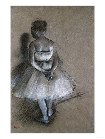 Dancer Standing, Her Hands Crossed Behind Her Back, 1874