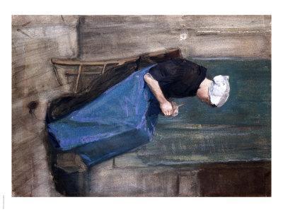 Young Scheveningen Woman, Knitting, 1881