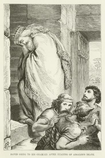 David Going to His Chamber after Hearing of Absalom's Death--Giclee Print