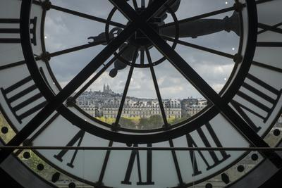 Sacre-Coeur as Seen from the Clock Tower of the Musee D'Orsay in Paris, France