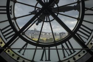 Sacre-Coeur as Seen from the Clock Tower of the Musee D'Orsay in Paris, France by David Griffin