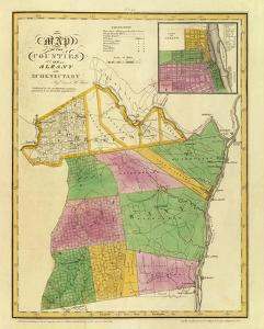New York: Albany, Schenectady Counties, c.1829 by David H^ Burr