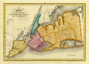 New York, Queens, Kings, Richmond counties, c.1829 by David H^ Burr