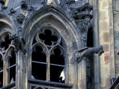 Castle Window and Gargoyle, Prague, Czech Republic
