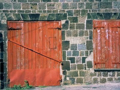 Red Window and Door, St. Kitts, Caribbean