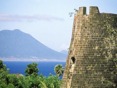 Stone Structure on Coast, Roseau, St. Kitts, Caribbean