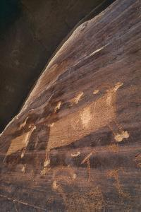A Petroglyph, Part of the 'Migration Panel' Above Butler Wash Road by David Hiser