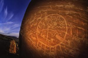 A Shield Shaped Ute Petroglyph on Walnut Knob Near Arch Canyon, East of Blanding, Utah by David Hiser