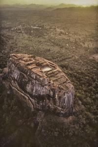 Aerial View of Sigiriya, a 5th Century Rock Fortress, Sri Lanka by David Hiser