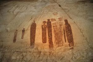 Barrier Canyon Style Pictographs in Horseshoe, Canyonlands National Park by David Hiser