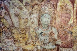 Fresco of Women in the Tivanka Image House by David Hiser