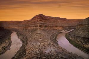 San Juan River 3 Miles Below Mexican Hat, at the Mendenhall Loop or Bend at Dusk by David Hiser