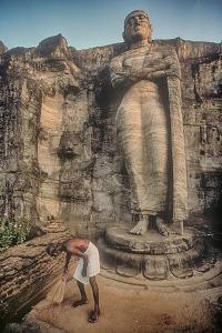 The Gal Vihara Standing Buddha Statue at Polonnaruwa, Sri Lanka by David Hiser