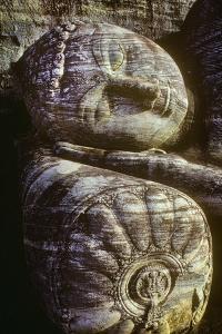 The Head of the Gal Vihara Reclining Buddha Statue at Polonnaruwa, Sri Lanka by David Hiser
