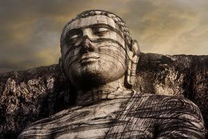 The Head of the Gal Vihara Standing Buddha Statue at Polonnaruwa, Sri Lanka by David Hiser