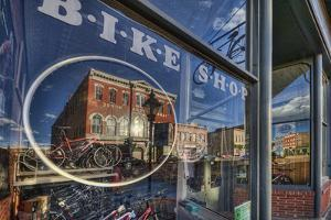 The Window of the Cycles of Life Bike Shop On the Main Street of Leadville by David Hiser