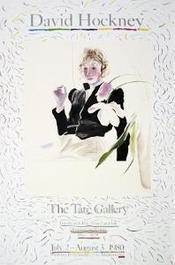 Celia in a Black Dress with White Flowers No. 48 by David Hockney