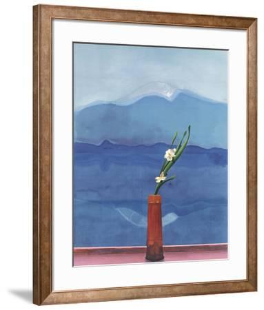 Mount Fuji and Flowers by David Hockney