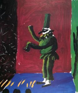 Pulcinella with Applause No. 107, 1980 by David Hockney