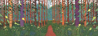 The Arrival of Spring in Woldgate, East Yorkshire by David Hockney