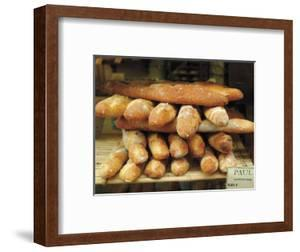 Baguettes in the Window of the Paul Bread Shop, Lille, Flanders, Nord, France by David Hughes