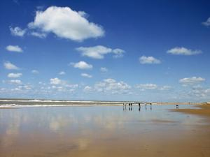 Beach at Cotes D'Argent in Gironde, Aquitaine, France, Europe by David Hughes