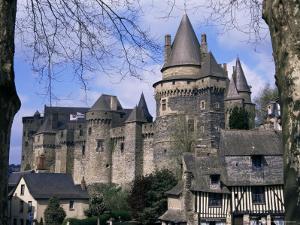 Chateau, Vitre, Ille-Et-Vilaine, Brittany, France by David Hughes