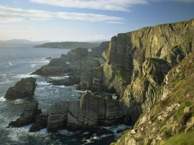 Cliffs at Mizen Head, County Cork, Munster, Republic of Ireland,Europe by David Hughes