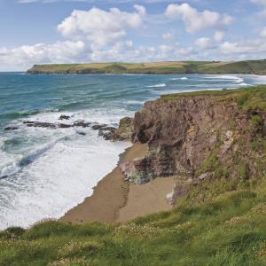Coastal Footpath Between Haymer Bay Rock and Polzeath, Cornwall, England, United Kingdom, Europe by David Hughes