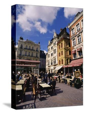 Flemish Houses and Cafes, Grand Place, Lille, Nord, France