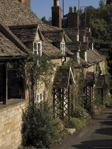 Honey Coloured Terraced Cottages, Winchcombe, the Cotswolds, Gloucestershire, England by David Hughes