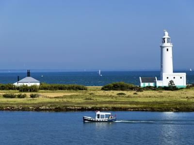 Lighthouse at Hurst Castle, Keyhaven, Hampshire, England, United Kingdom, Europe by David Hughes