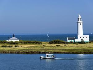 Lighthouse at Hurst Castle, Keyhaven, Hampshire, England, United Kingdom, Europe by David Hughes
