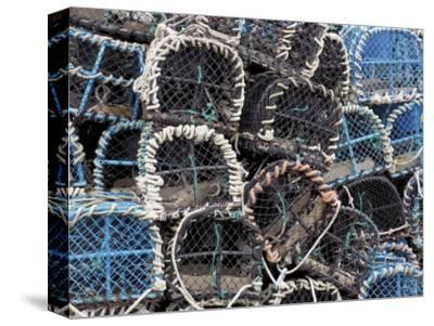 Lobster Pots in Fishing Harbour at Loguivy, Cote De Granit Rose, Cotes d'Armor, Brittany, France
