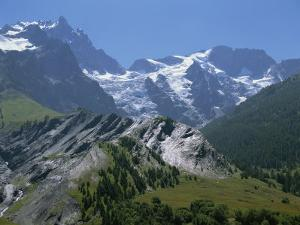 Mountains of the Haute-Alpes, Viewed from the Col De Galibier, 2704M, in the Alps, Provence, France by David Hughes