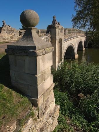 Robert Adam Bridge, Compton Verney Estate, Warwickshire, England, United Kingdom, Europe by David Hughes