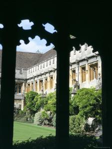 Cloister Quadrangle Detail, Magdalen College, Oxford, Oxfordshire, England, United Kingdom by David Hunter