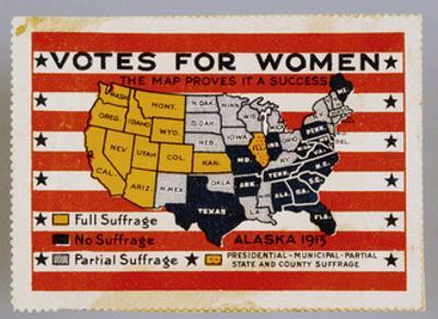 Votes for Women Stamp by David J. Frent