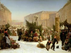 Selling Christmas Trees, 1853 by David Jacobsen