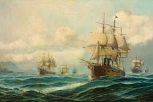 Vice-Admiral Phipps Hornby's Squadron Steaming Through the Dardanelles on Passage to… by David James