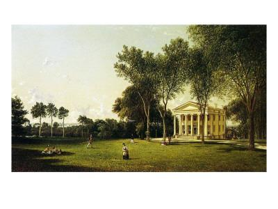 A Game of Croquet, 1873
