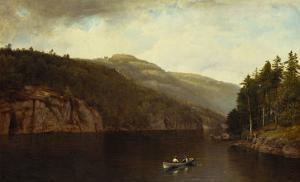 Boating on Lake George, 1870 by David Johnson