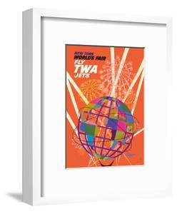 1964 New York World's Fair - Fly TWA Jets (Trans World Airlines) - Unisphere Globe by David Klein