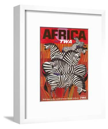 Africa - Fly TWA (Trans World Airlines) - Zebras