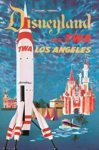 Disneyland - Los Angeles - Fly TWA (Trans World Airlines) - Tomorrowland TWA Moonliner by David Klein